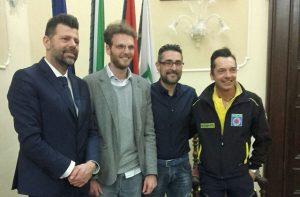 Davide Fronzi (secondo da sinistra) eletto presidente del Comitato comunale delle associazioni e dei gruppi di protezione civile di Senigallia
