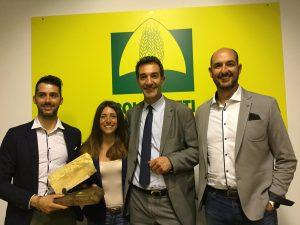 Nella foto da sin. Emanuele Befanucci, la neo presidente Maria Letizia Gardoni, Tommaso Di Sante, Enzo Bottos