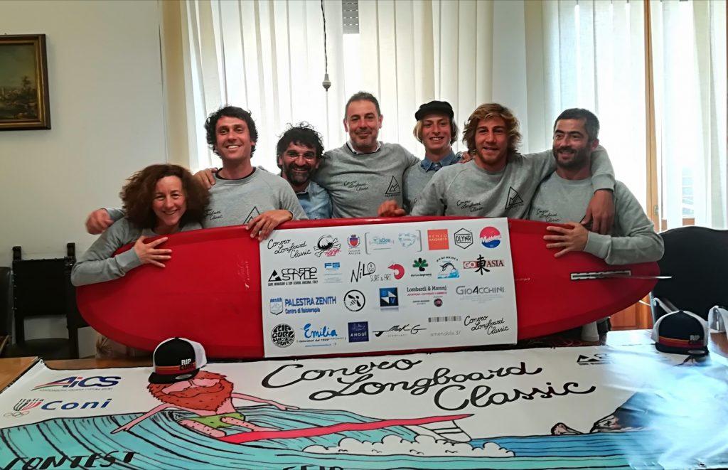 Gli organizzatori della competizione a Portonovo