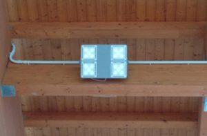 Nuovo impianto di illuminazione al palasport F.lli Menotti di Montemarciano