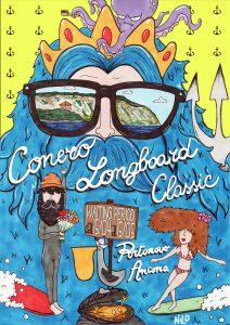 La locandina della II edizione della Conero Longboard Classic