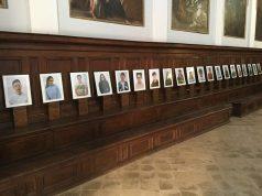 Alcuni ritratti realizzati dagli studenti del Liceo Artistico di Fabriano
