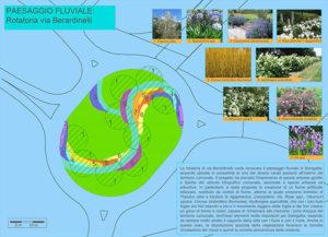"""Progetto """"5 paesaggi per 5 rotatorie"""": la rotatoria di via Berardinelli (paesaggio fluviale)"""