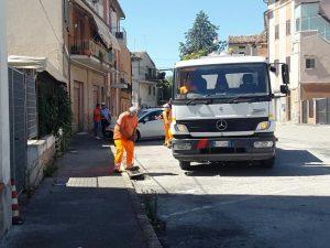 pulizia strade cittadine