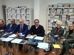 I componenti del comitato a difesa dell'ospedale, di Energie per Senigallia e dell'unione nazionale consumatori