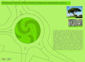 """Progetto """"5 paesaggi per 5 rotatorie"""": la rotatoria di strada del Camposanto Vecchio (spazi verdi)"""