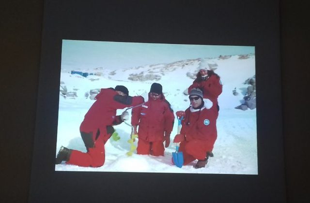 Una fase dell'attività in Antartide