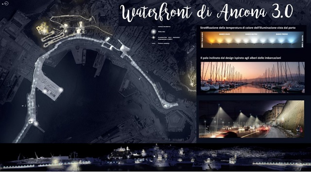 Ancona, Iti Waterfront: consegnati i lavori per la nuova illuminazione