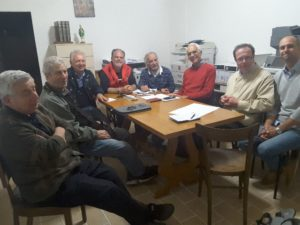 Il Comitato organizzatore, don Vittorio Magnanelli, Goffredo Zannini, Cristofaro Dziegielewski, Arcangelo Laghezza, Giovannino Triani, Franco Mercadante, Giovanni Carletti, Massimiliano Mattoli