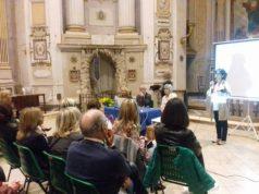 Francesca Pentericci presidente di Fidapa Jesi apre l'incontro nella chiesa dei Merighi