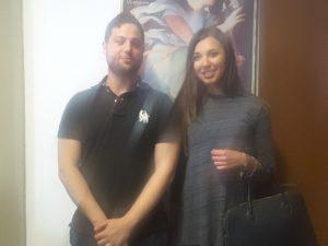 Luca Tavoloni e Irene Catani