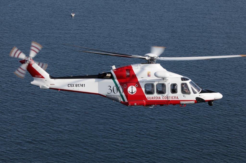 L'elicottero della guardia costiera