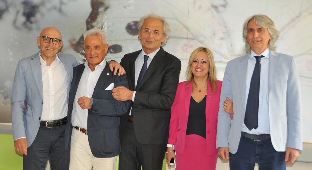 Da sinistra, Fabrizio Volpini, Michele Caporossi, Sauro Longhi, Rossana Berardi e Marcello D'Errico