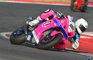 Gianluca Battisti in gara con la moto del Boccetti Racing Team