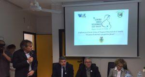 Da sinistra il direttore dell'Area Vasta Maurizio Bevilacqua, il dg dell'Asur Alessandro Marini, il governatore delle Marche Luca Ceriscioli e il direttore sanitario dell'Asur Nadia Storti
