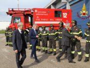 Gioacchino Giomi, il capo del Corpo nazionale dei vigili del fuoco in visita ad Ancona