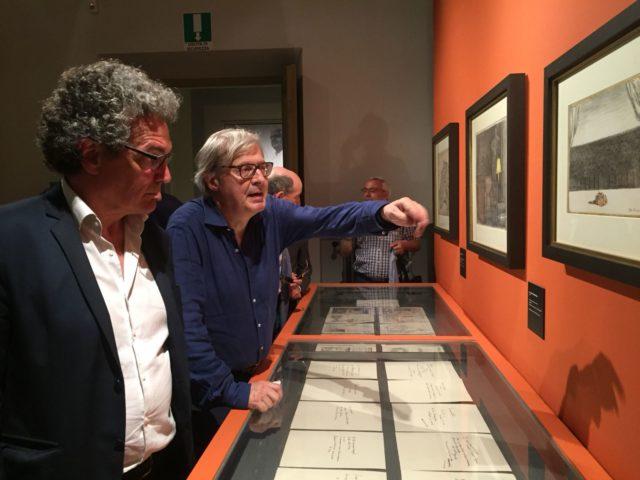Osimo, in tour con Vittorio Sgarbi tra le opere di De Chirico