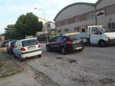 La pattuglia dei Carabinieri intervenuta in via Campania