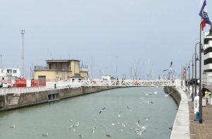 Il canale del fiume Misa a Senigallia