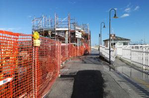 I lavori all'edificio ex Gencimar al porto di Senigallia