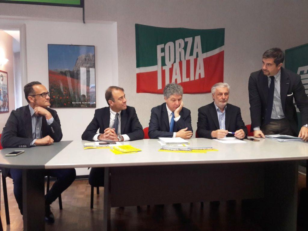Da sin. Stefano Tombolini, Andrea Cangini, Marcello Fiori, Daniele Berardinelli, Daniele Silvetti