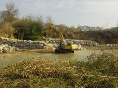 L'intervento sul fiume Misa all'altezza del fosso del Sambuco (zona Molino Marazzana)