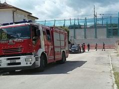 I soccorsi all'operaio vittima di un infortunio sul lavoro a Senigallia