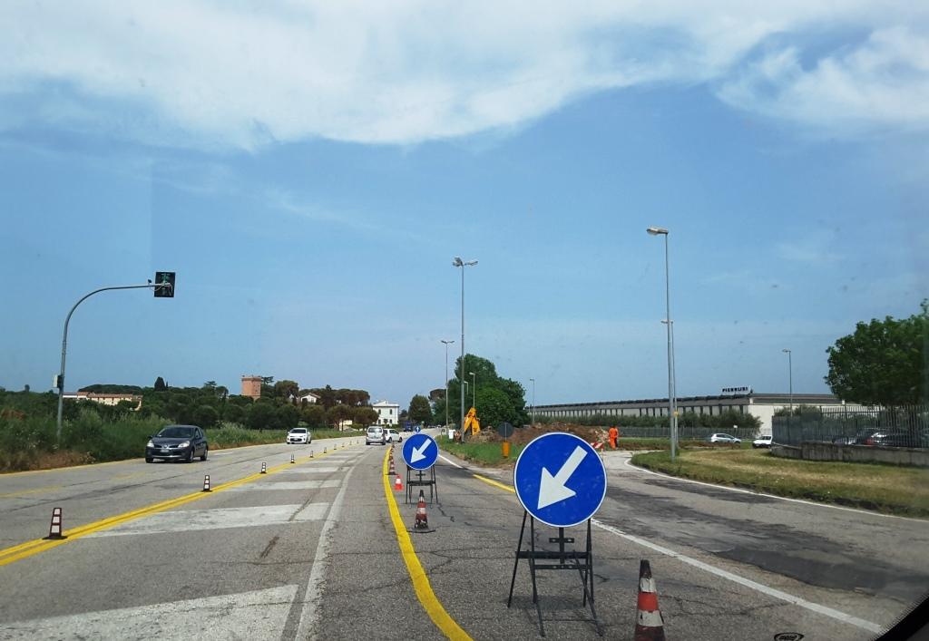 Jesi, tutto pronto per la rotatoria fra via Ancona e viale Don Minzoni