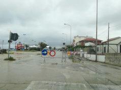 Il lungomare A.Buglioni a Marina di Montemarciano chiuso per la pioggia e il maltempo. Foto di L.Mengucci