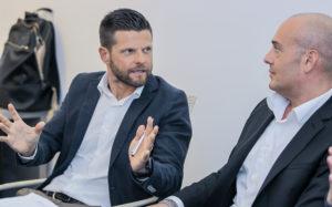 Michele Mencarelli e il segretario di Confapi Ancona, Michele Montecchiani