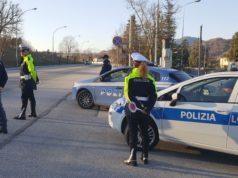 Polizia di Stato e Municipale durante i controlli