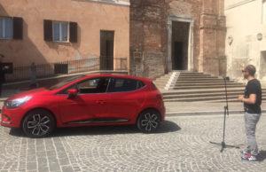 Un momento delle riprese per il video Renault Clio a Sirolo