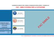Il fac simile della scheda elettorale per il comune di Ostra Vetere alle elezioni del 10 giugno 2018
