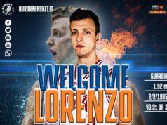 Il benvenuto dell'Aurora Basket a Lorenzo Baldasso