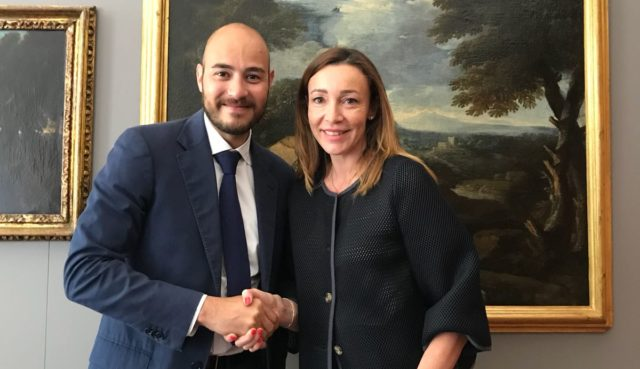 Il nuovo Presidente del Gruppo Legno e Arredo di Confindustria Marche Nord Lorena Fulgini insieme al vice Presidente Andrea Staffolani