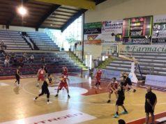 Un'immagine del match tra Luciana Mosconi e Aquila Basket