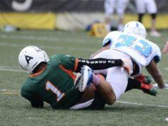 Un'immagine dei Dolphins sconfitti dai Ducks Lazio (Foto Bugatti)