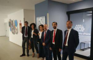 L'inaugurazione alla Lega del Filo D'Oro del Laboratorio con Unicredit