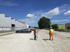I lavori in via dell'Industria a Osimo