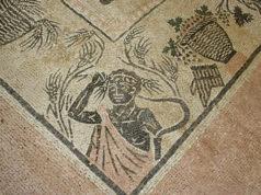 Archeologia, uno dei mosaici nell'area della Città Romana di Suasa
