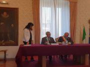 Il prefetto Antonio D'Acunto e il sindaco di Osimo Simone Pugnaloni alla firma del patto di sicurezza