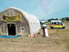 I soccorritori della Protezione civile e della Croce verde di Castelfidardo
