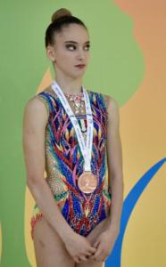 Talisa Torretti durante la premiazione a Guadalajara