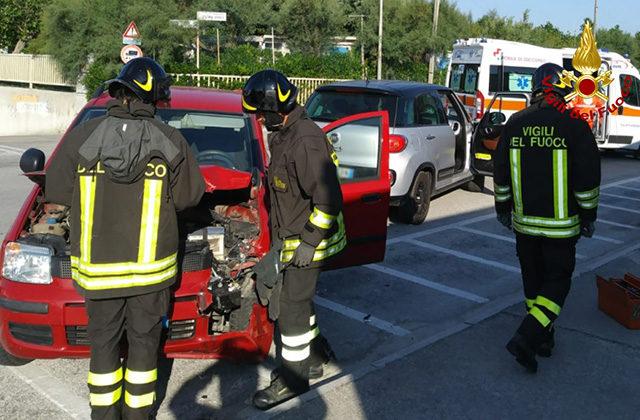 Incidente stradale sul lungomare Da Vinci di Senigallia