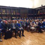 Il comandante regionale della guardia di finanza Gianfranco Carozza con il procuratore generale della Corte d'Appello Sergio Sottani e il vescovo Angelo Spina