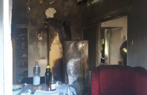 L'appartamento in cui si è sviluppato l'incendio