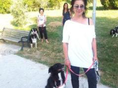 Daniela Innamorati con la sua Cloe al Parco del Vallato