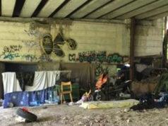 Il rifugio sotto il ponte, a Vallemiano, dove è stata aggredita la donna
