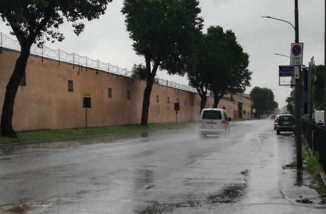 Allagamenti in via Sanzio (statale Adriatica), a Senigallia