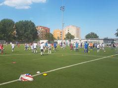 Gli allenamenti al campo da calcio alle Saline di Senigallia